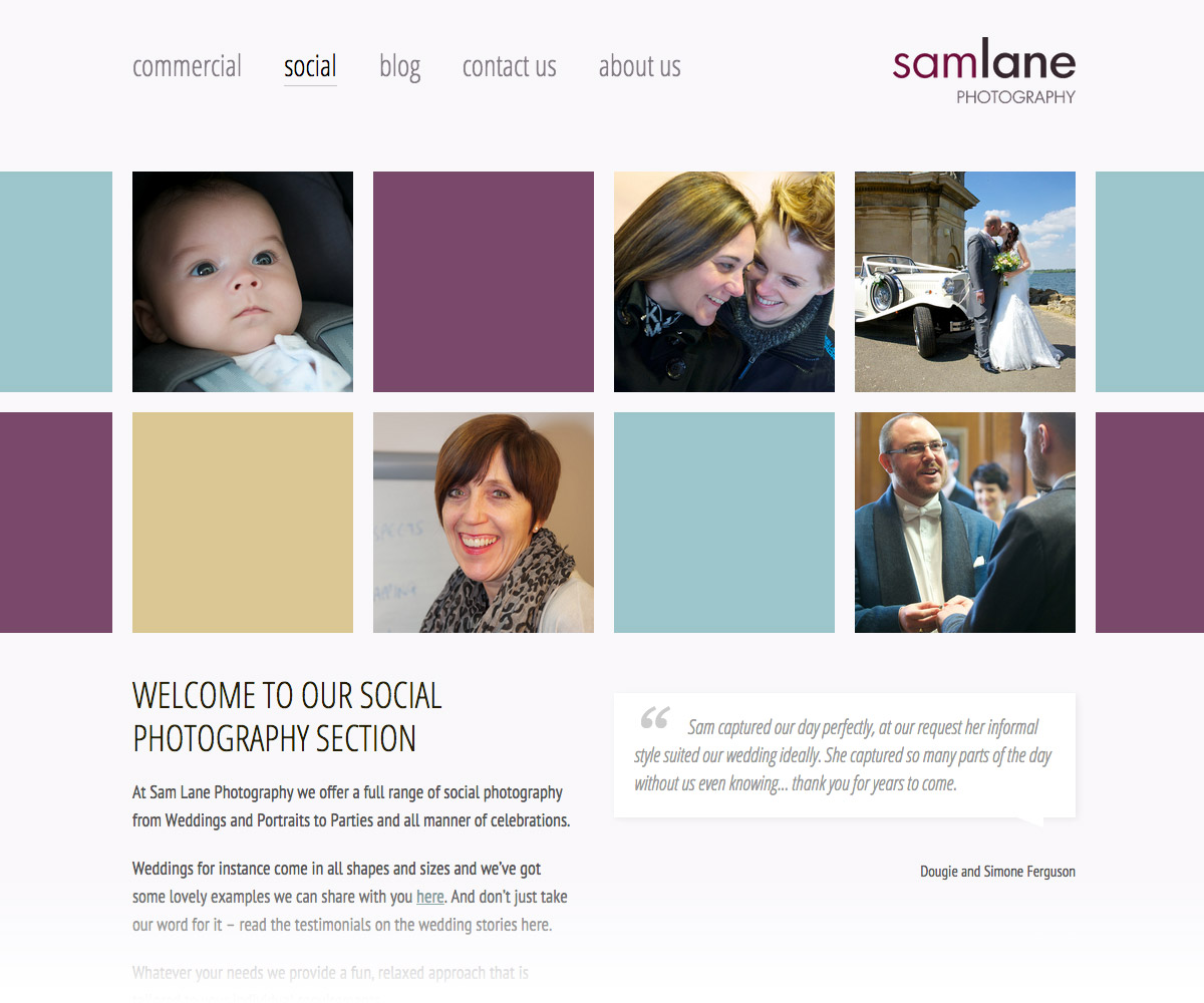 Sam Lane Photography Website