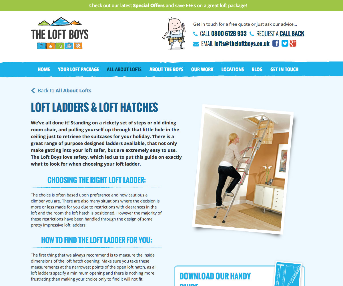 The Loft Boys Website 2