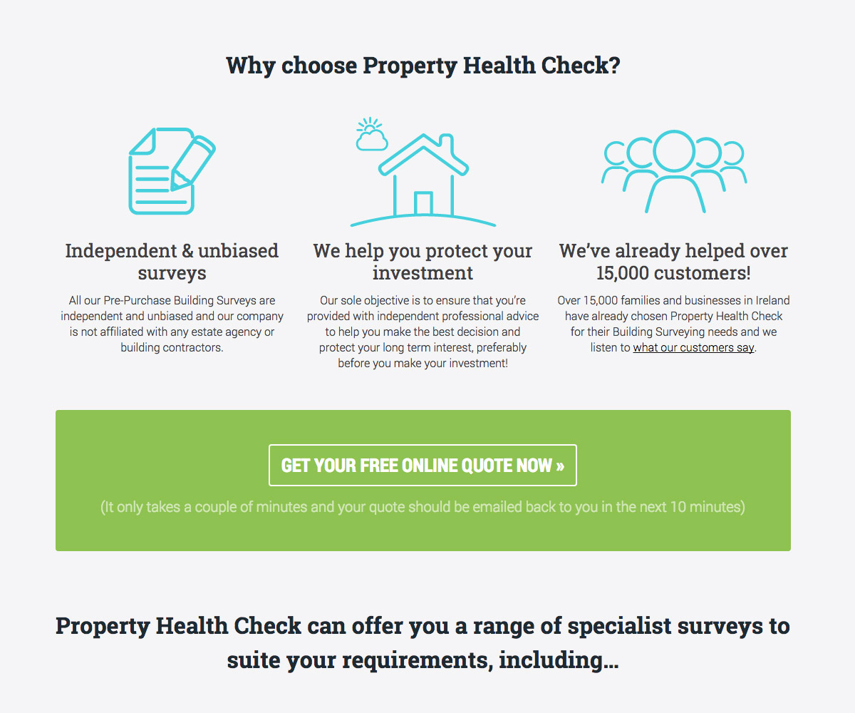 Property Health Check Website 1