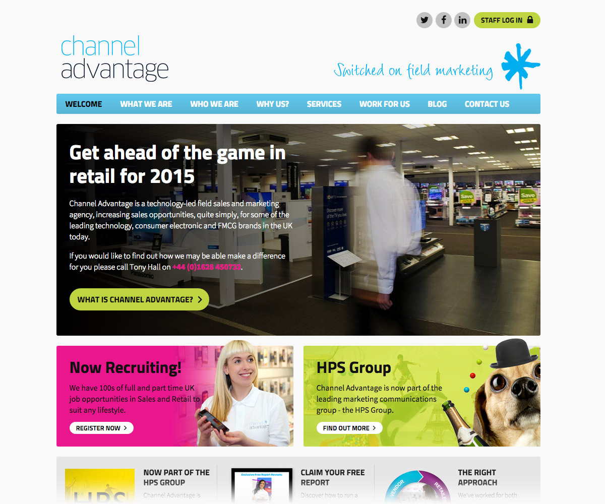 Channel Advantage Website 1