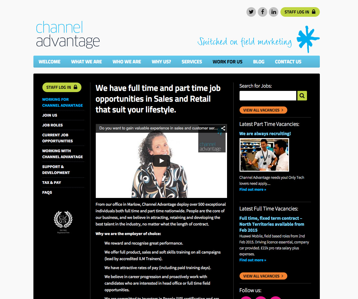 Channel Advantage Website 3