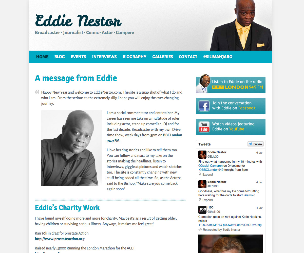 Eddie Nestor Website 1
