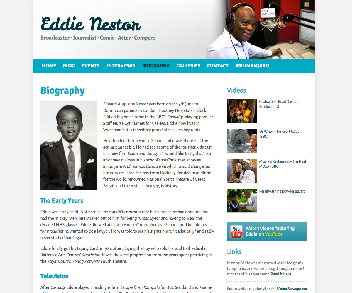 Eddie Nestor Website 2