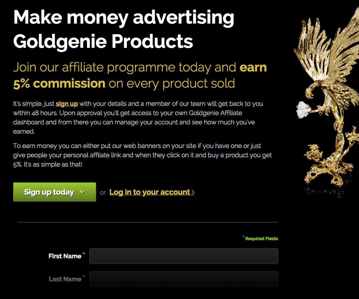 Goldgenie Website 2