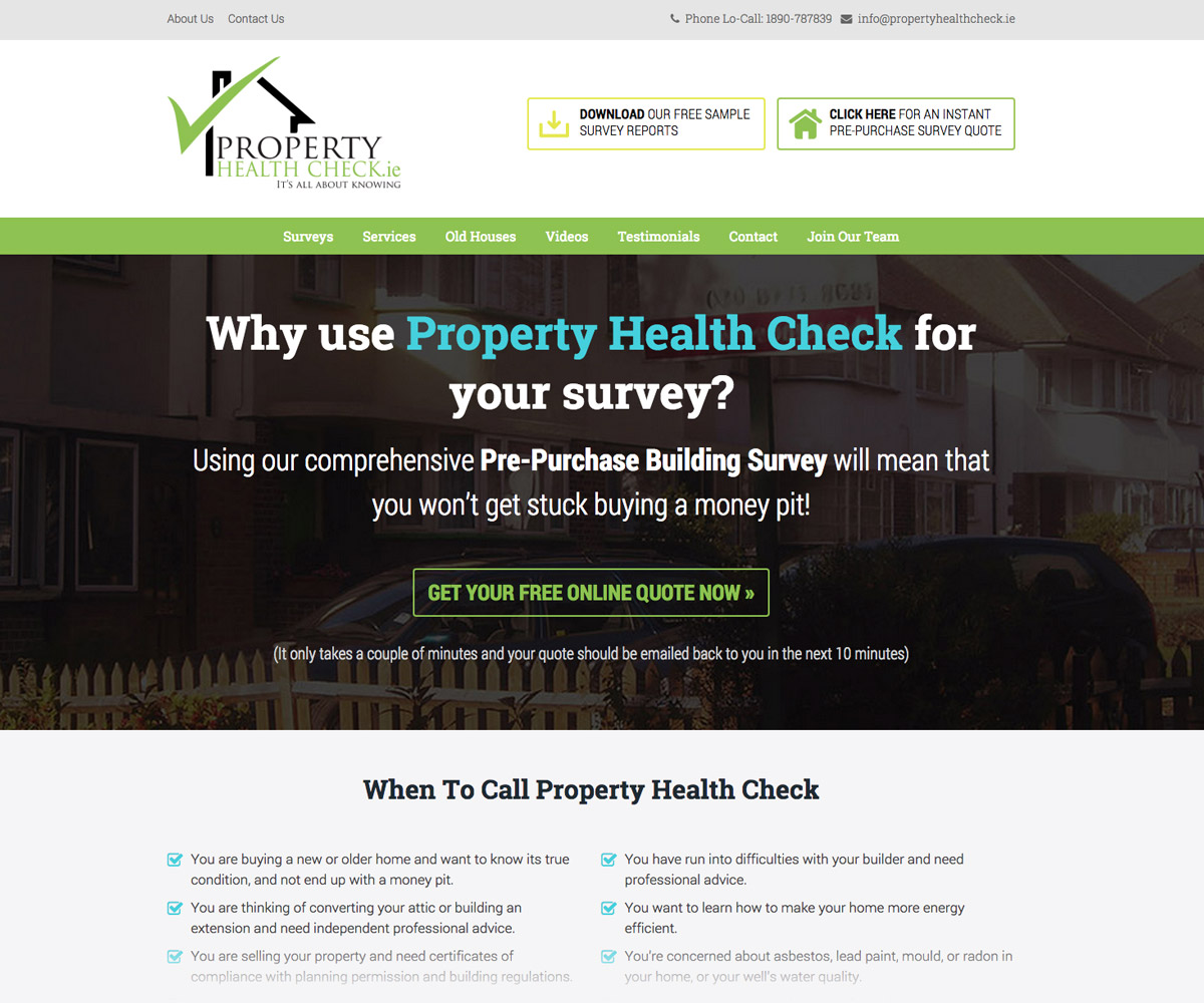 Property Health Check Website 2