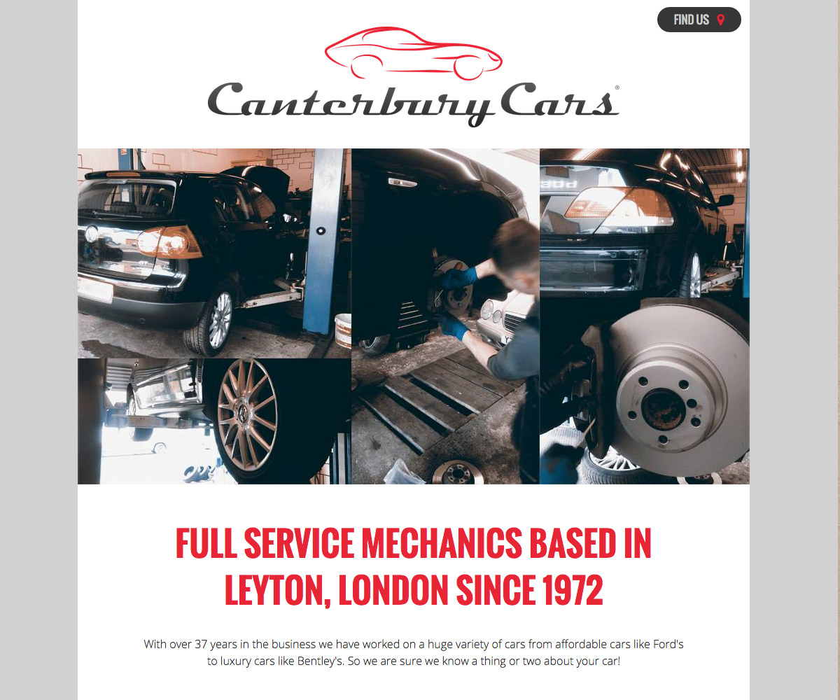 Canterbury Cars Website 1